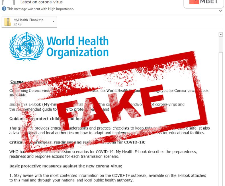 Fake WHO email - Realize Information Technology